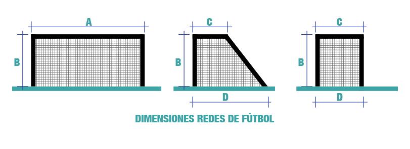 Medidas redes de fútbol